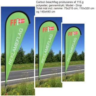 Carbon Beachflag - Drop - flex