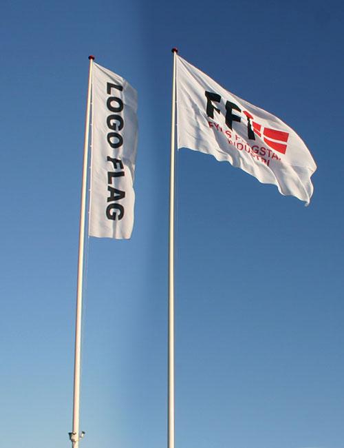 Reklameflag til 14 meter flagstang